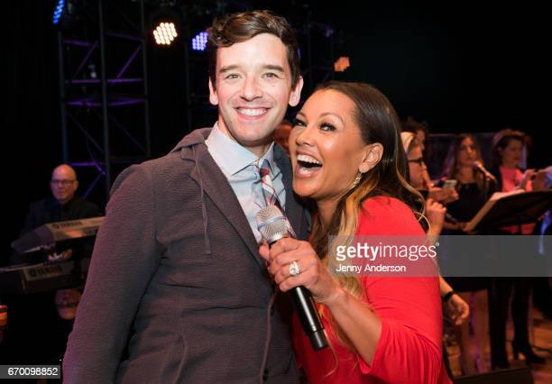 Ugly Betty stars Michael Urie and Vanessa Williams reunite during Concert For America Stand Up Sing Out at Town Hall on April 18 2017 in New York City