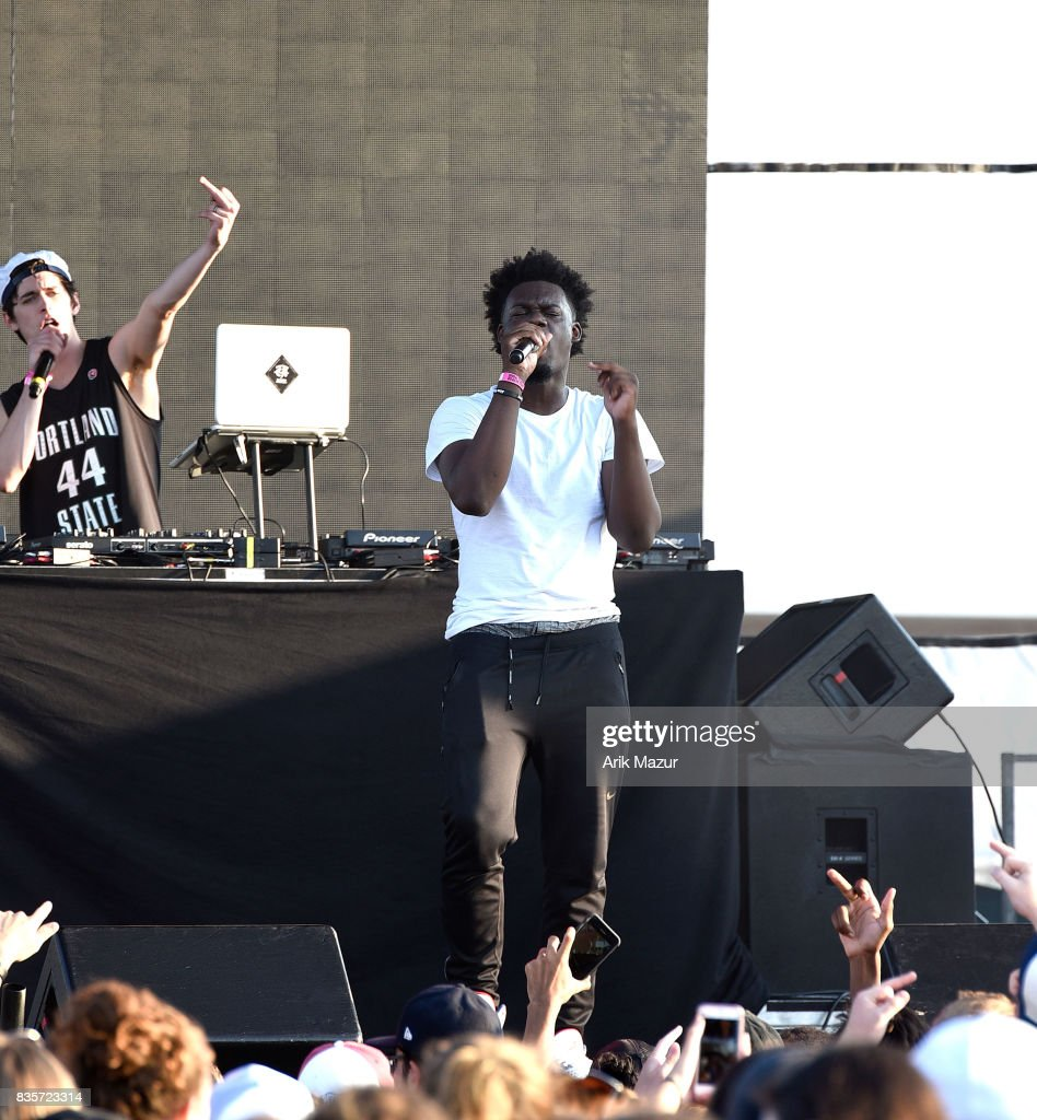 ugly god performs at 2017 Billboard HOT 100 Music Festival at Northwell Health at Jones Beach Theater on August 19, 2017 in Wantagh, New York.