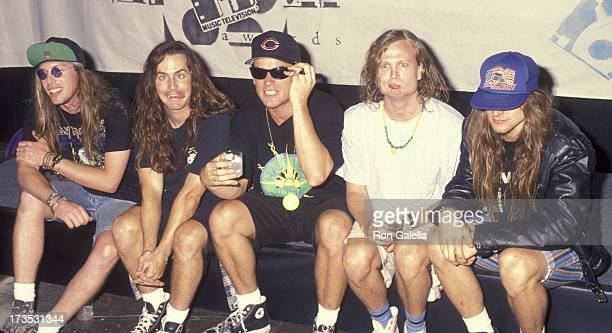 Ugly Kid Joe attends First Annual MTV Movie Awards on June 5 1992 at Walt Disney Studios in Burbank California