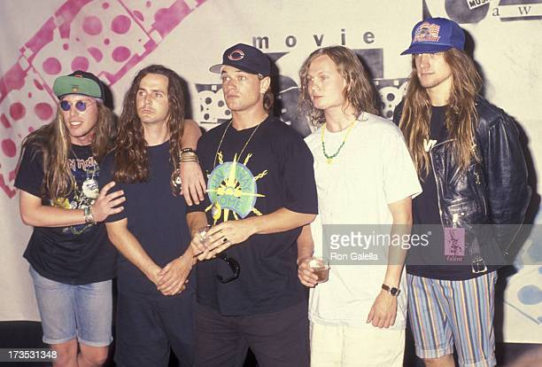 Ugly Kid Joe attends First Annual MTV Movie Awards on June 5 1992 at Walt Disney Studios in Burbank California