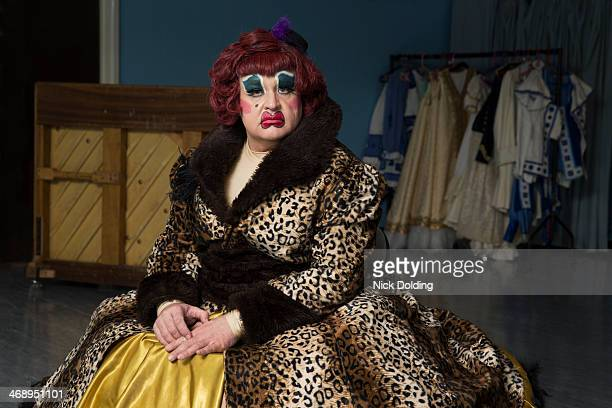 ugly sisters 11 - transvestite stock photos and pictures