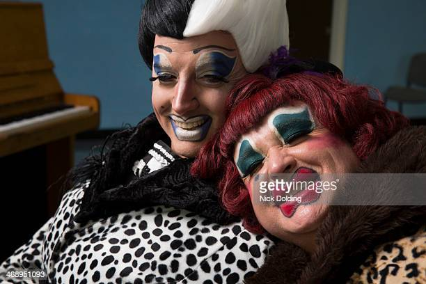 ugly sisters 15 - cross dressing stock pictures, royalty-free photos & images