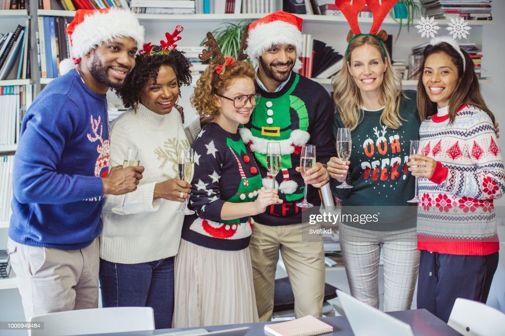 Ugly Sweater Day In Office Stock Photo Getty Images
