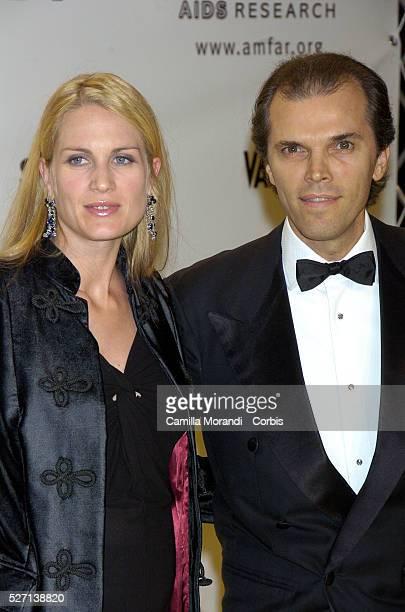 Ugo Brachetti Peretti and Isabella Borromeo arrive at the Amfar Gala supporting the research against HIV during the 2007 Rome Film Festival