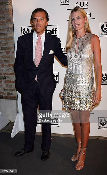 Ugo Brachetti Peretti and Isabella Borromeo attend 'Not On Our Watch' Charity Gala held at the Hotel Cipriani during the 65th Venice Film Festival on...