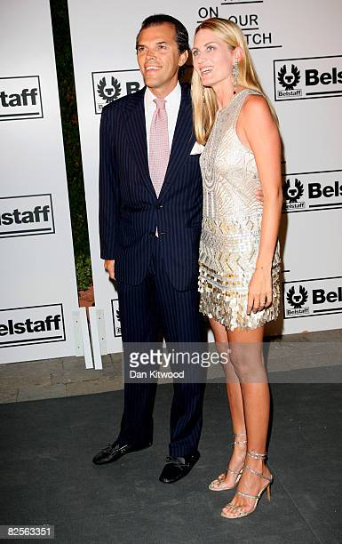 Ugo Brachetti Peretti and Isabella Borromeo attend the 65th Venice Film Festival 'Not On Our Watch' Charity Gala held at the Hotel Cipriani on August...