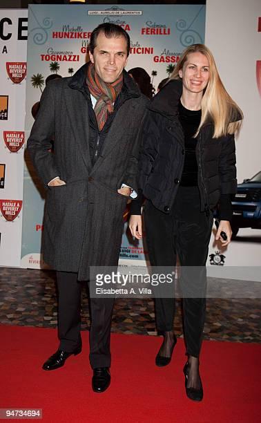 Ugo Brachetti Peretti and Isabella Borromeo attend the premiere of ''Natale A Beverly Hills'' at the Warner Moderno Cinema on December 17 2009 in...