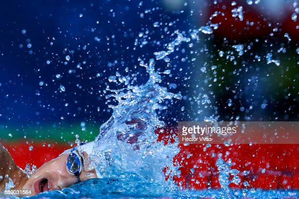 Ugo Didier of France competes in Men's 400 m Freestyle S910 during day 6 of the Para Swimming World Championship Mexico City 2017 at Francisco...