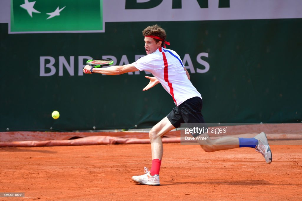 Ugo Humbert during qualification for the French Open 2018 ...