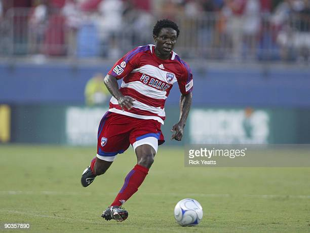 Ugo Ihemelu of the FC Dallas dribbles the ball during the match against the DC United at Pizza Hut Park on September 5, 2009 in Frisco, Texas.