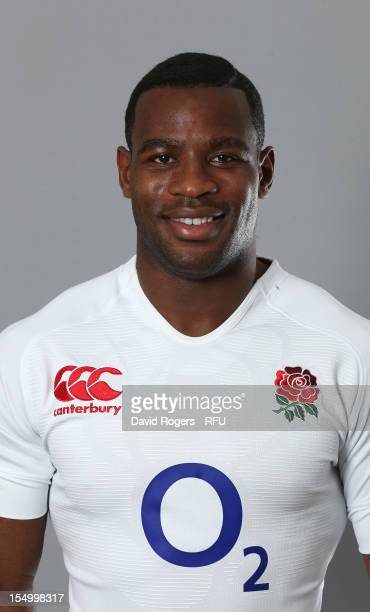 Ugo Monye of England poses for a portrait at St Georges Park on October 29 2012 in BurtonuponTrent England
