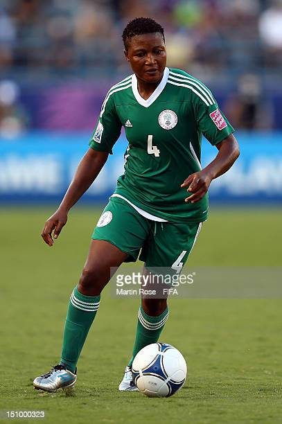 Ugo Njoku of Nigeria runs with the ball during the FIFA U20 Women's World Cup Japan 2012 Quarter Final match between Nigeria and Mexico at National...