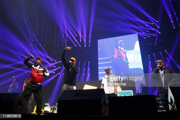 God Ghostface Killa Inspectah Deck and GZA of Wu Tang Clan perform on stage at Gods of Rap tour at SSE Arena Wembley on May 10 2019 in London England