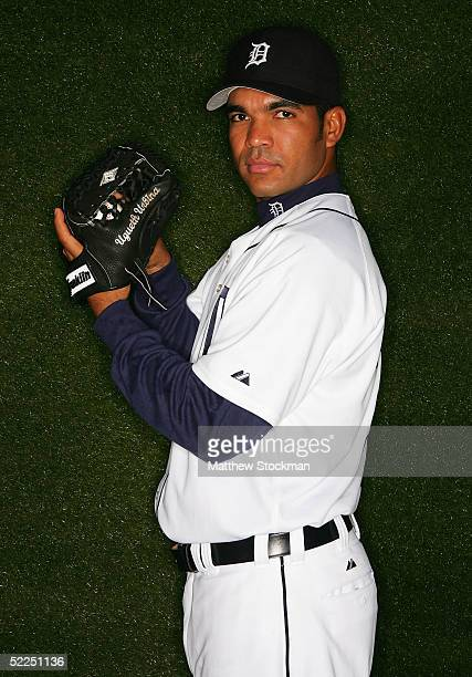 Ugueth Urbina of the Detroit Tigers poses for a portrait during Tigers Photo Day at Joker Marchant Stadium on February 27 2005 in Lakeland Florida
