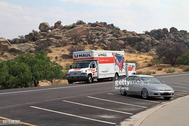 U-Haul truck at rest stop