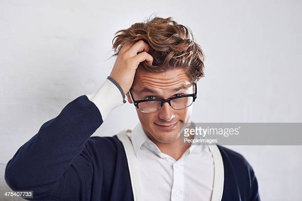 uhhh, what? - pulling hair stock photos and pictures