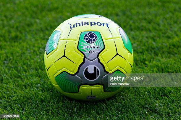 Uhlsport official ball of Ligue 2 during the Ligue 2 match between RC Strasbourg Alsace and Bourg en Bresse on May 19 2017 in Strasbourg France