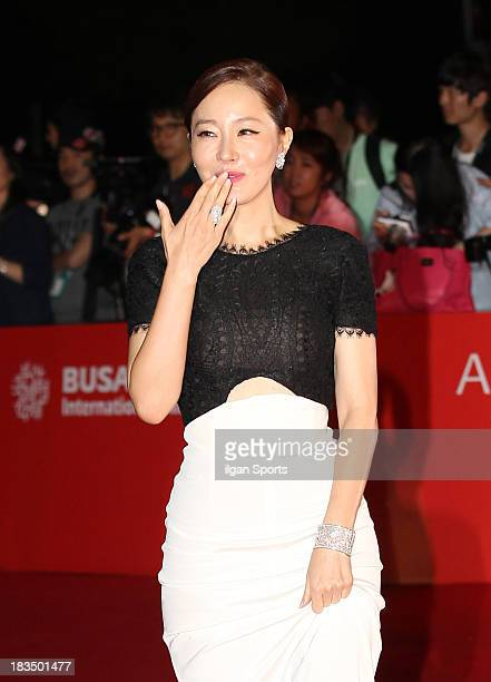 Uhm JiWon arrives for the opening ceremony of the 18th Busan International Film Festival at Busan Cinema Center on October 3 2013 in Busan South Korea