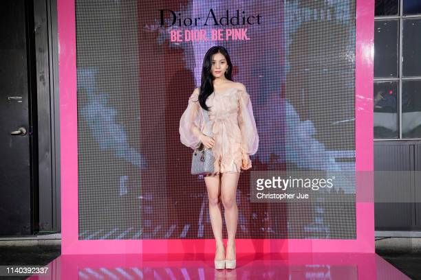 Uhmji of girl goup Girl Friend aka GFrand attends Dior Addict Stellar Shine launch at Layers 57 on April 04 2019 in Seoul South Korea