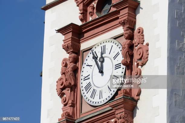 Uhr Altes Rathaus Markt Chemnitz Sachsen Deutschland