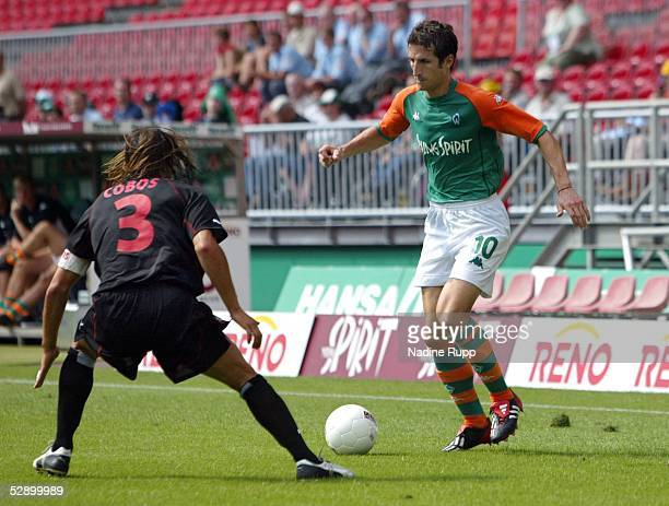 Cup 2003 Bremen SV Werder Bremen OGC Nizza Jose COBOS/Nizza Johan MICOUD/Bremen