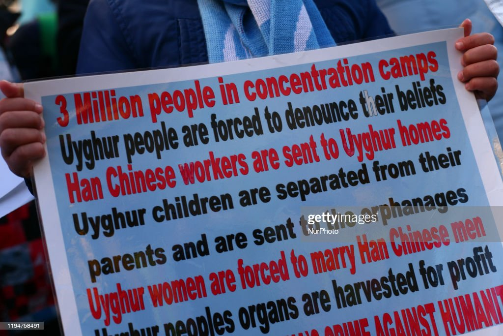 Rally Outside Chinese Embassy In London : News Photo