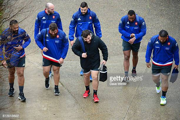 Uini ATONIO Antoine BURBAN Xavier CHIOCCI Damien CHOULY Rabah SLIMANI Jefferson POIROT Vincent PELO of France during the French Rugby Union team...