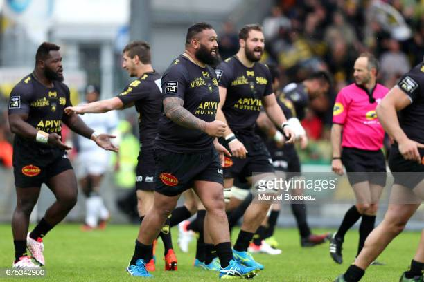 Uini Atonio of La Rochelle during the French Top 14 match between La Rochelle and Montpellier on April 30 2017 in La Rochelle France