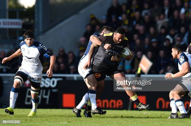 Uini Atonio of La Rochelle during the Top 14 match between La Rochelle and Montpellier on December 2 2017 in La Rochelle France