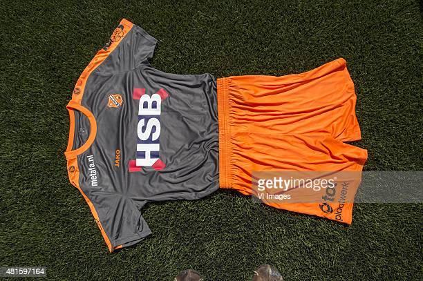 uit shirt/broek during the team presentation of Fc Volendam on July 22 2015 at the Kras stadium in Volendam The Netherlands