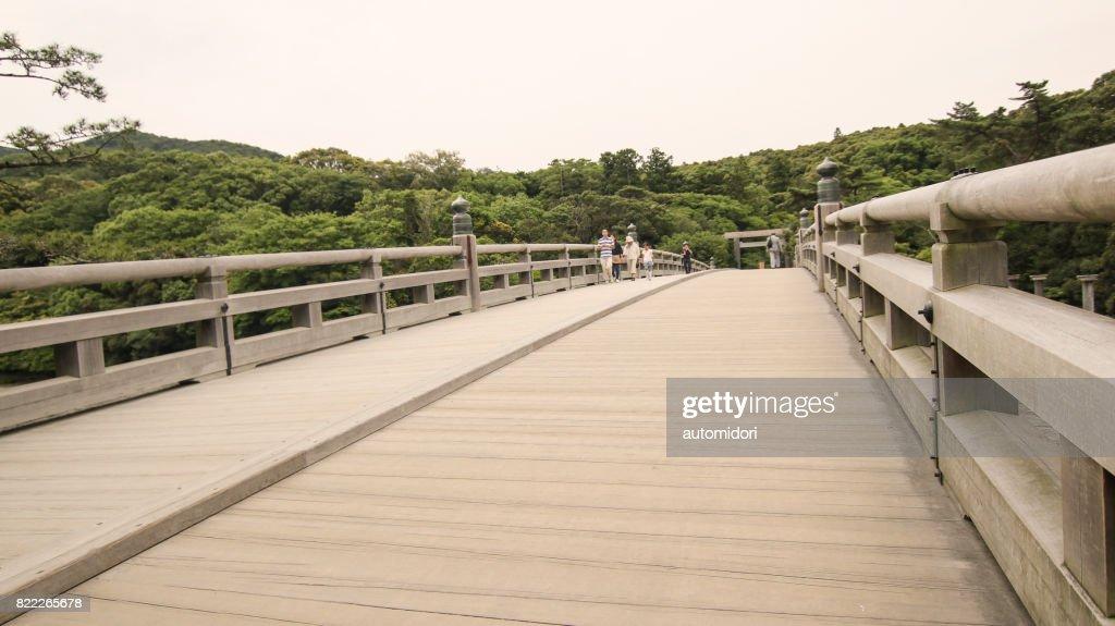 Uji Bridge in Ise during Summer 2017 : Stock Photo