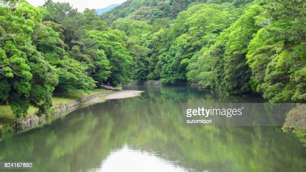 uji river in summer 2017 - uji kyoto stock pictures, royalty-free photos & images