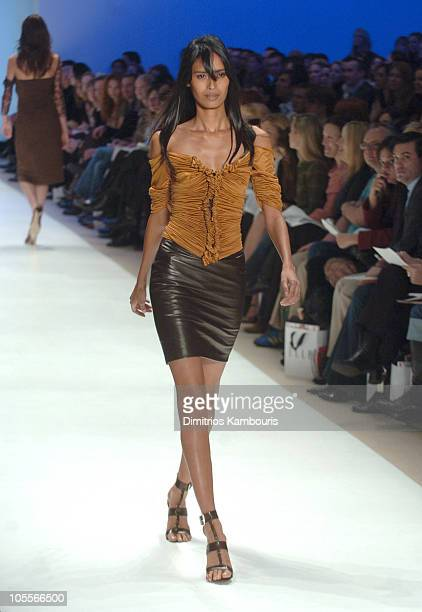 Ujjwala Raut wearing Wendy Pepper for 'Project Runway' Fall 2005
