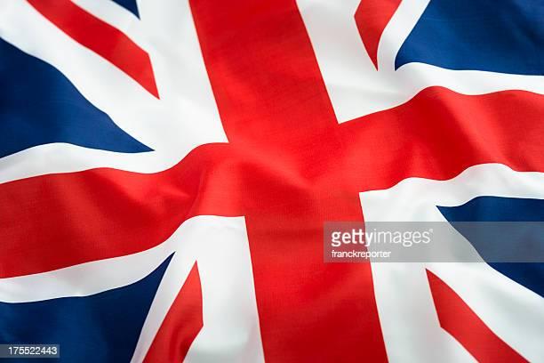 Uk mit der britischen Flagge