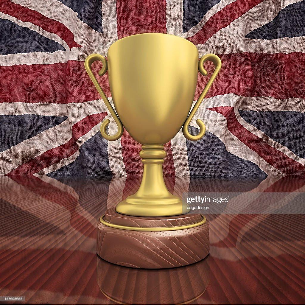 uk gold trophy : Bildbanksbilder