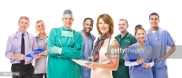 uk medical team - nhs stock photos and pictures