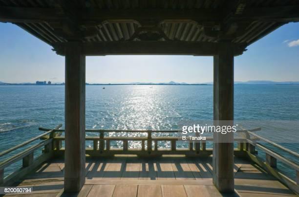 Ukimido Floating Temple at Lake Biwa in Japan's Shiga Prefecture