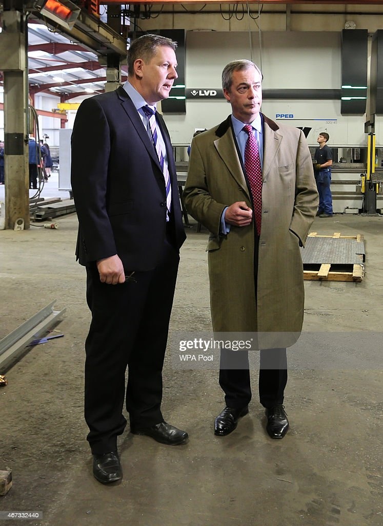 b0dff8fae9d8 Ukip leader Nigel Farage is shown around Concept Metal Products on ...