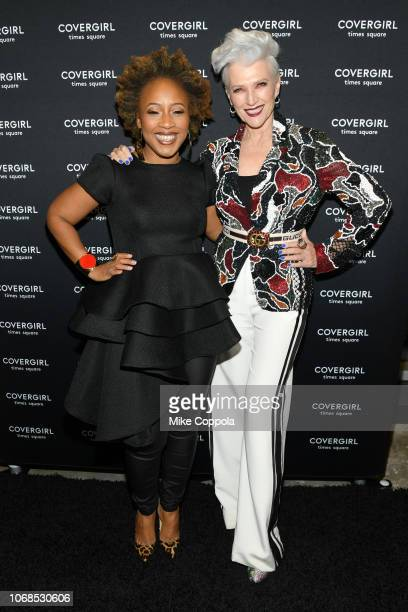 Ukonwa Ojo and Maye Musk attend as COVERGIRL Opens The Doors To Their First Flagship Store An Experiential Makeup Playground on December 4 2018 in...