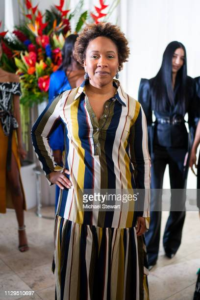 Ukonwa Ojo attends the Aliette Presentation during New York Fashion Week The Shows at The Standard East Village on February 13 2019 in New York City