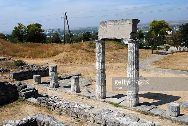 Ukraine. Autonomous Republic of Crimea. Ruins of ancient Greek city of Panticapaeum, founded by Milesians in Mount Mithridat. Kerch.