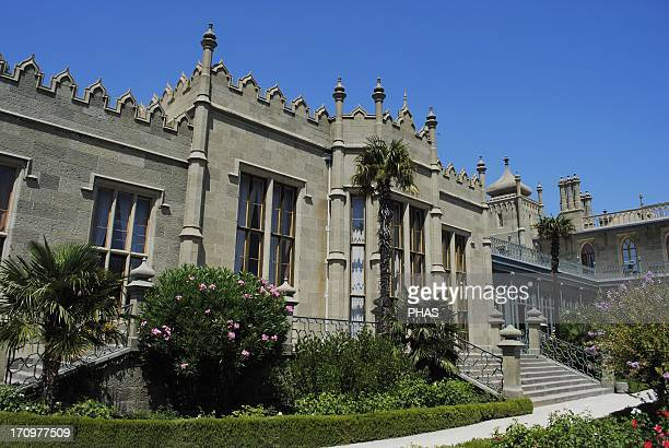 Ukraine Autonomous Republic of Crimea Vorontsov Palace Built in 1828 through 1848 by the English architect Edward Blore as a summer residence of...