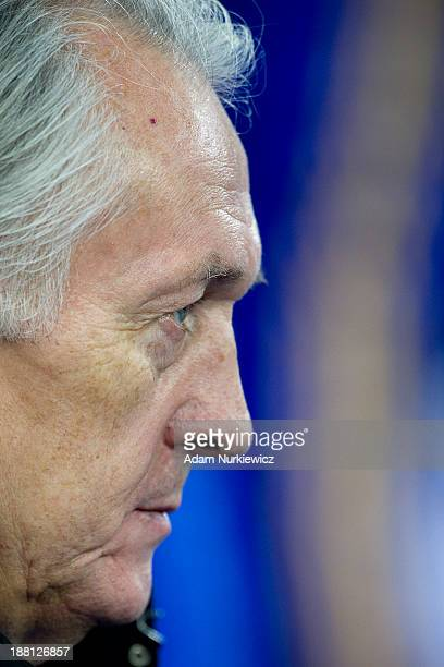 Ukraine coach Mikhail Fomenko looks on during the FIFA 2014 World Cup Qualifier Playoff First Leg soccer match between Ukraine and France at the...