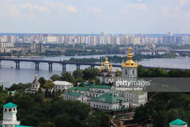 Ukraine Kiev View From The Bell Tower To The Monastery Complex of The Kiev Cave Monastery Holy Mary's Ascension Monastery Petscherskaya Lawra The...