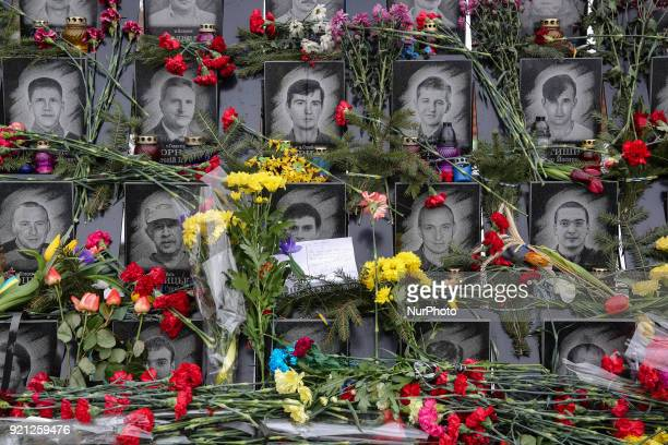 Ukraine pays tribute to the victims of the 20132014 antigovernment protests called the Revolution of Dignity during commemoration events in central...