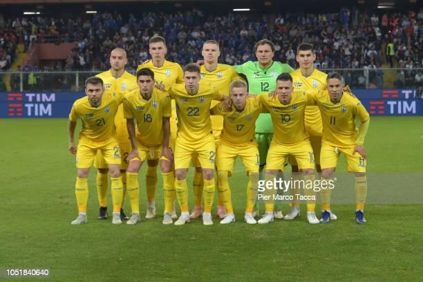 Ukraine Team poses during the International Friendly match between Italy and Ukraine at the Stadio Luigi Ferraris on October 10 2018 in Genoa Italy