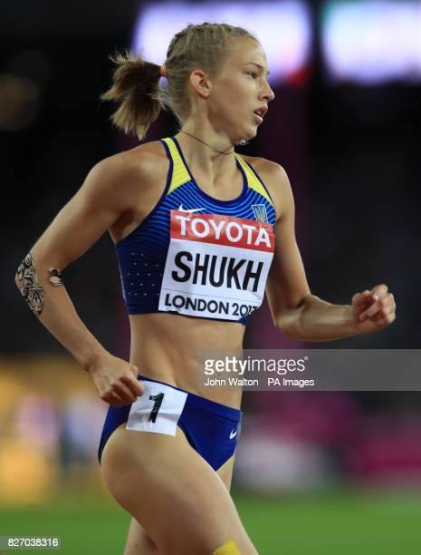 Ukraine's Alina Shukh during day three of the 2017 IAAF World Championships at the London Stadium