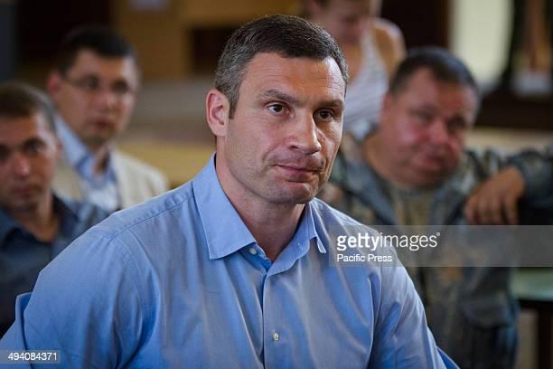 Ukraine's burly boxing hero and strident protest leader Vitali Klitschko who claimed victory Sunday in the Kiev mayoral vote comes to Kiev city...
