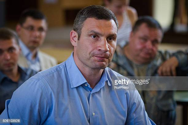 Ukraine's burly boxing hero and strident protest leader Vitali Klitschko who claimed victory Sunday in Kiev mayoral vote comes to Kiev city council...