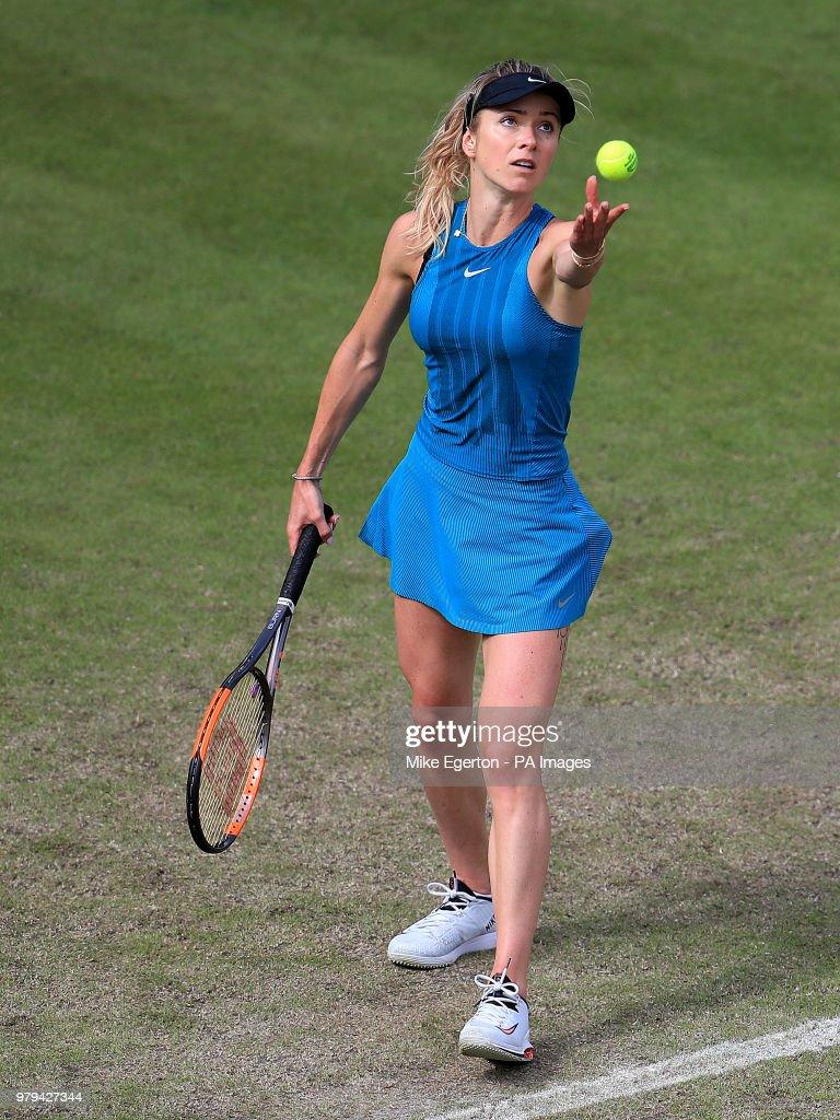 Ukraine's Elina Svitolina during day three of the Nature Valley Classic at Edgbaston Priory, Birmingham.